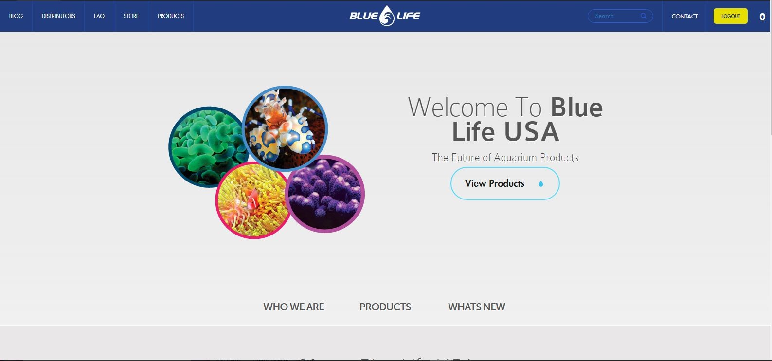 bluelifeusa.com wholesale aquarium products distributor