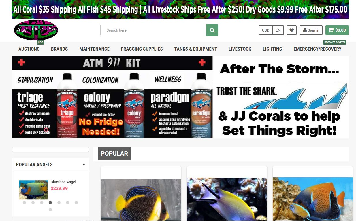 jjcorals and jjcoralsdist website