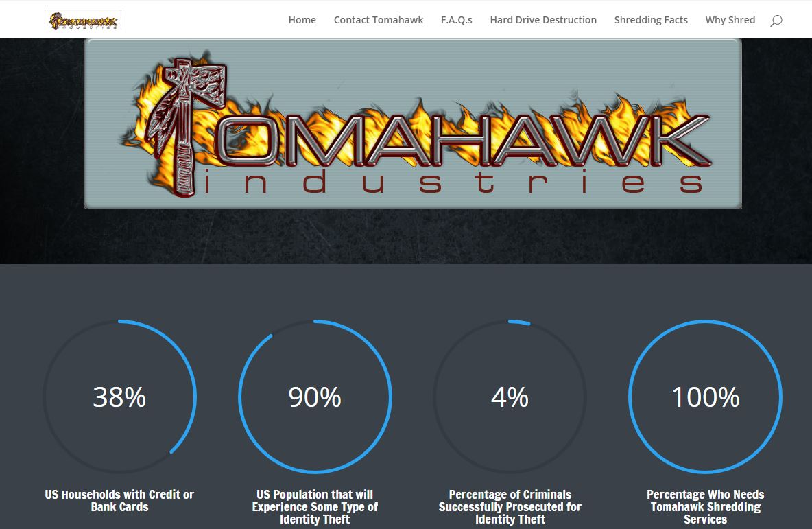 tomahawkshred.com secure shredding website